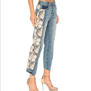 NWT Current/Elliott Uneven Seamed Straight Floral